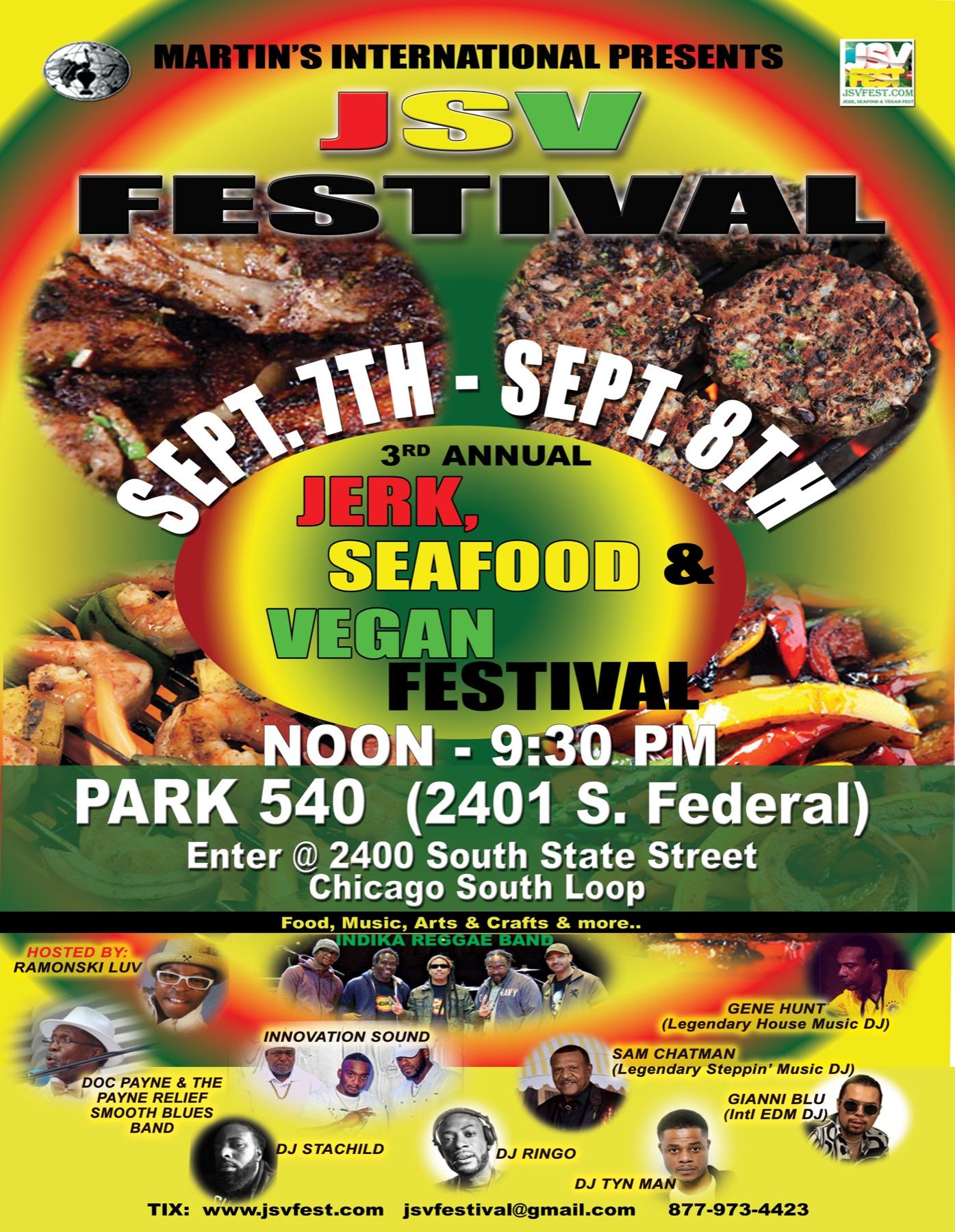 The 3rd annual Jerk, Seafood & Vegan Fest (JSVFest)