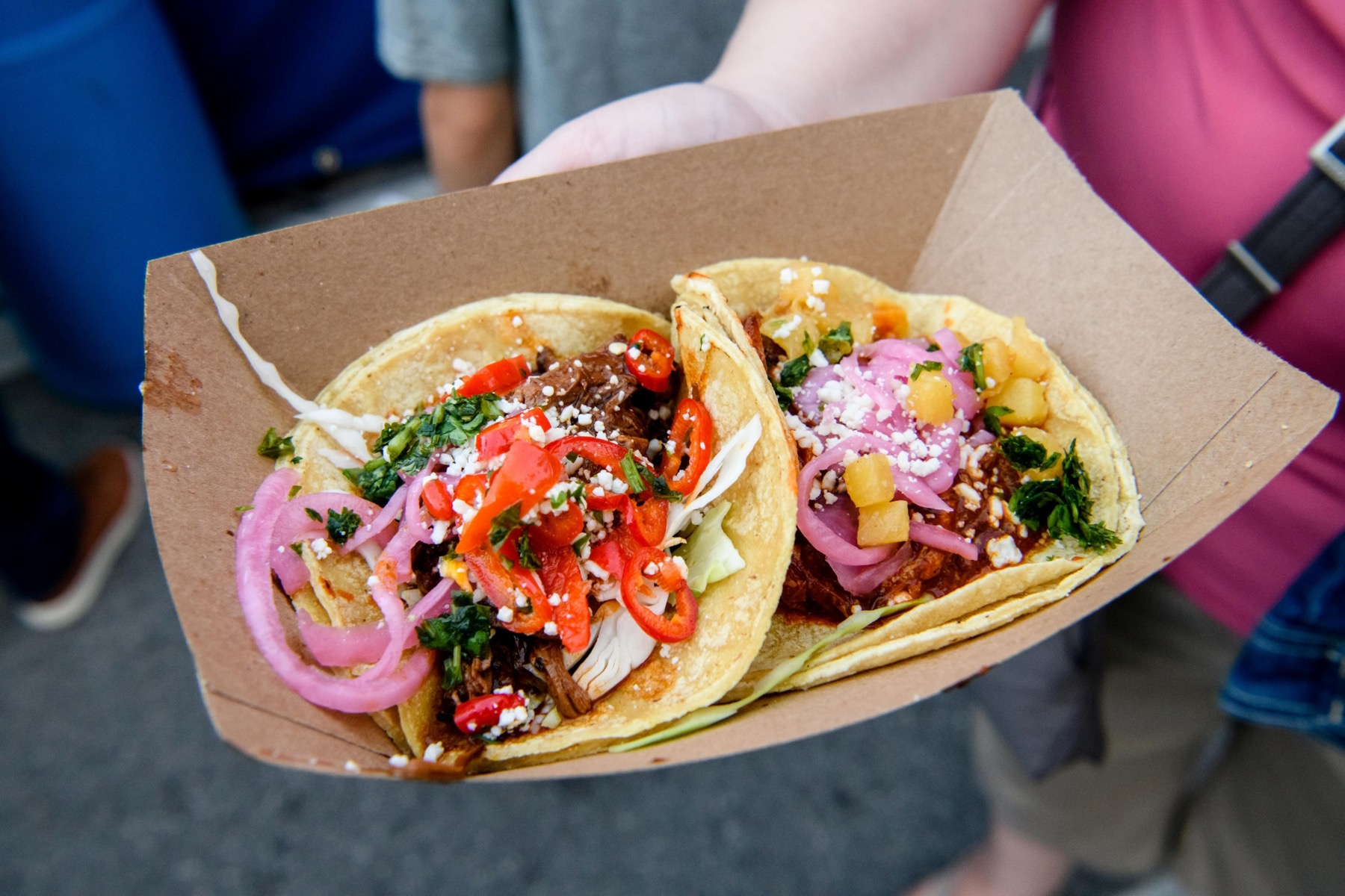2 tacos from Sam Adams' Lakeview Taco Fest