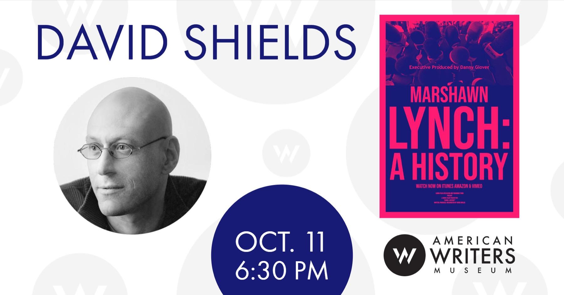 David Shields: Marshawn Lynch, A History