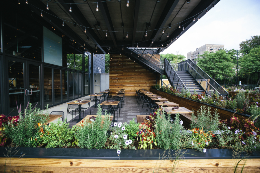 The Promontory patio