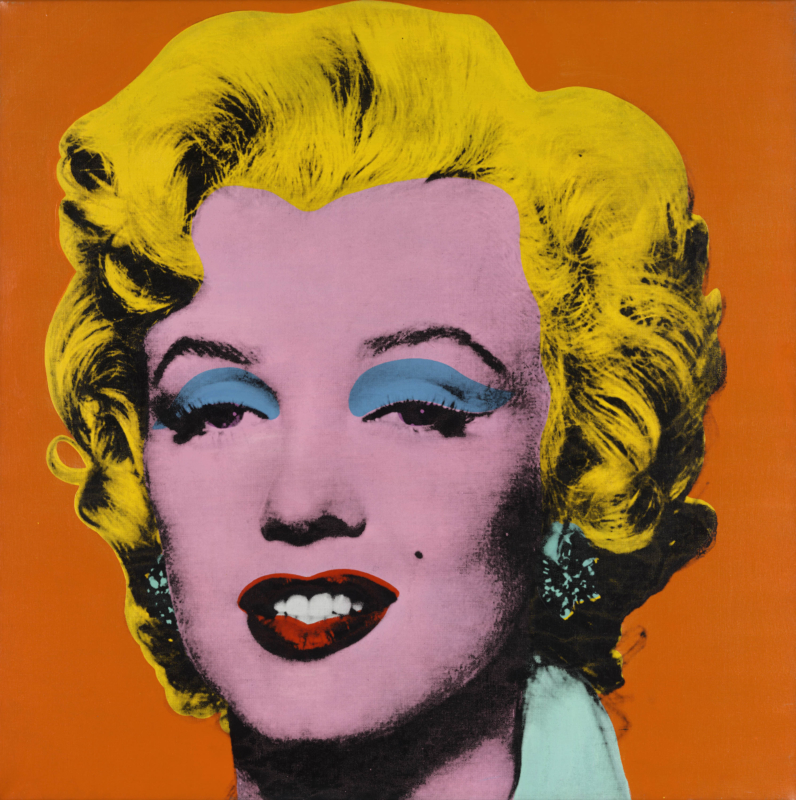 Andy Warhol. Shot Orange Marilyn, 1964. Private collection. © 2019 The Andy Warhol Foundation for the Visual Arts, Inc. / Artists Rights Society (ARS), New York