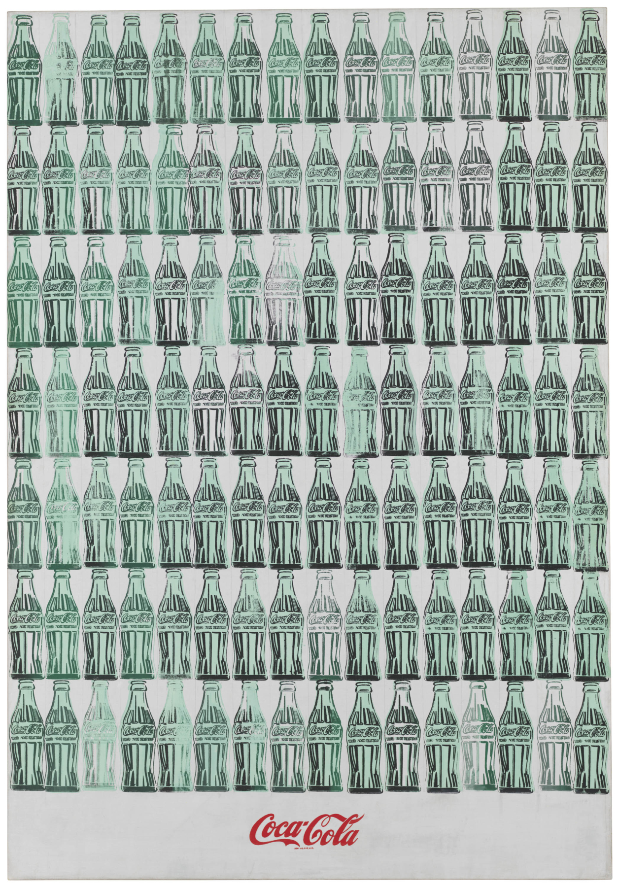 Andy Warhol. Green Coca-Cola Bottles, 1962. Whitney Museum of American Art, New York; purchase with funds from the Friends of the Whitney Museum of American Art. © 2019 The Andy Warhol Foundation for the Visual Arts, Inc. / Artists Rights Society (ARS), New York.