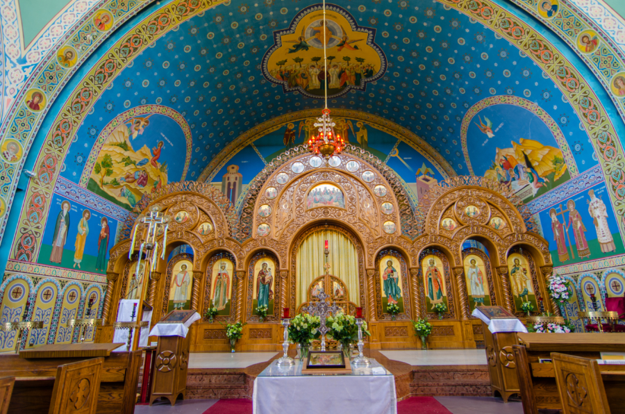 Sts. Volodymyr interior in Ukrainian Village