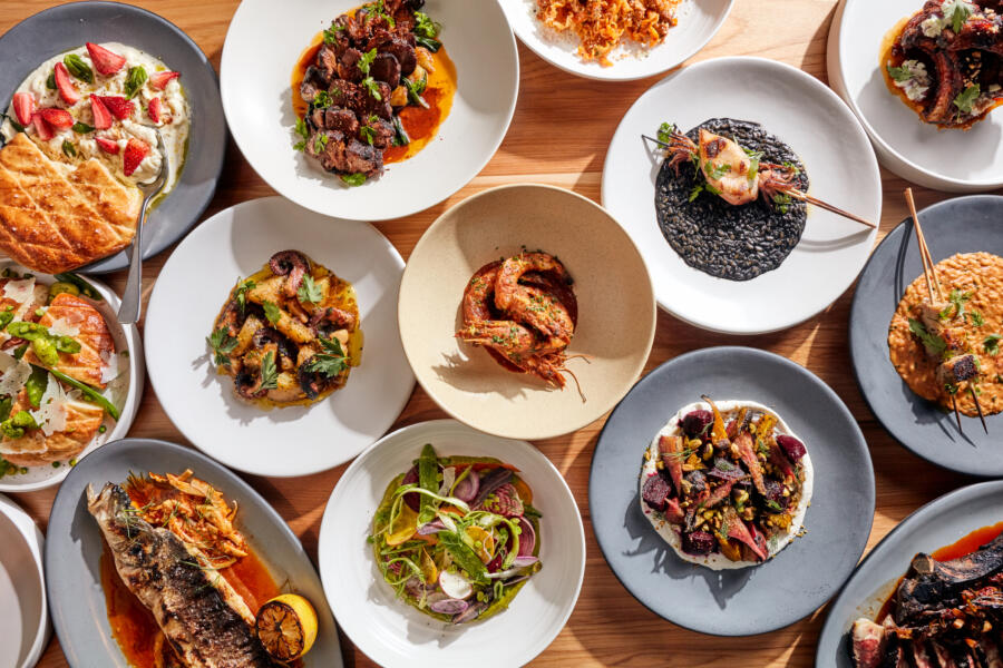 An array of dishes from Rose Mary Chicago
