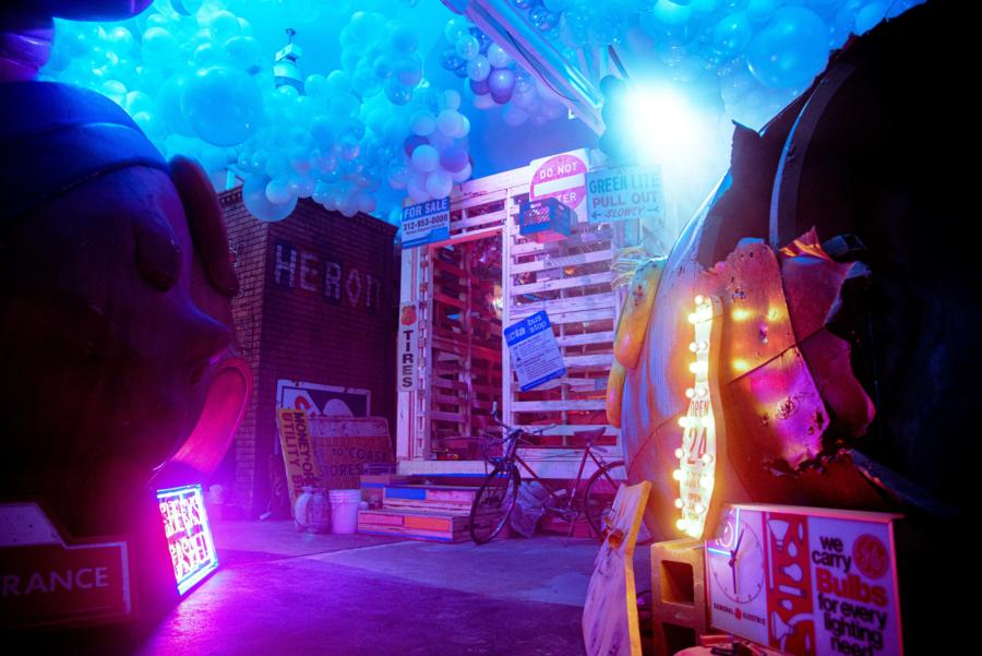 Art inside Nevermore Park by Hebru Brantley