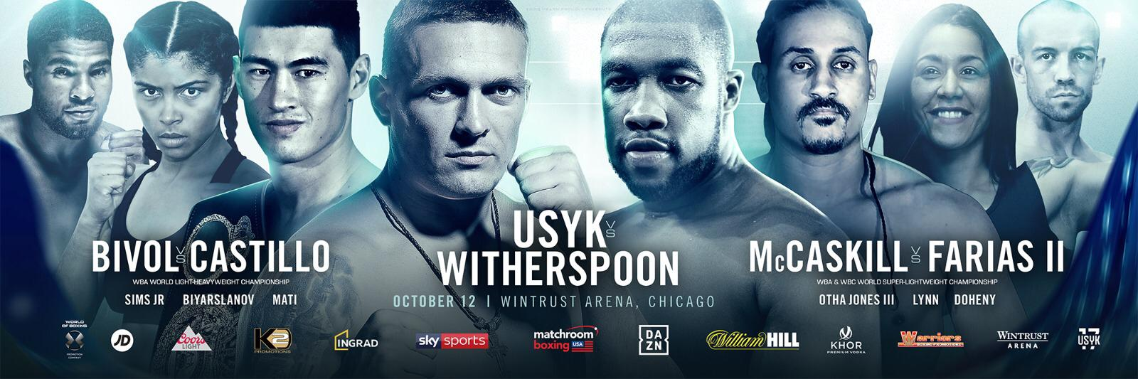 Oleksandr Usyk Faces Chazz Witherspoon
