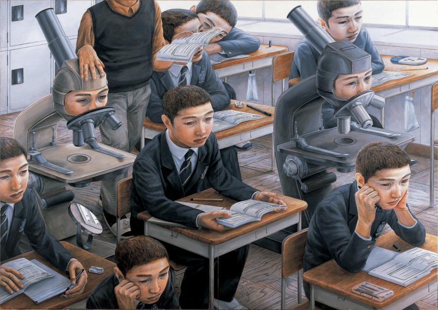 Tetsuya Ishida painting at Wrightwood 659