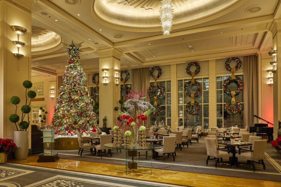 The Peninsula Chicago Lobby at Christmas
