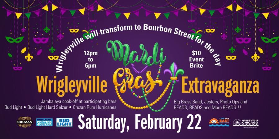 Wrigleyville Mardi Gras Extravaganza