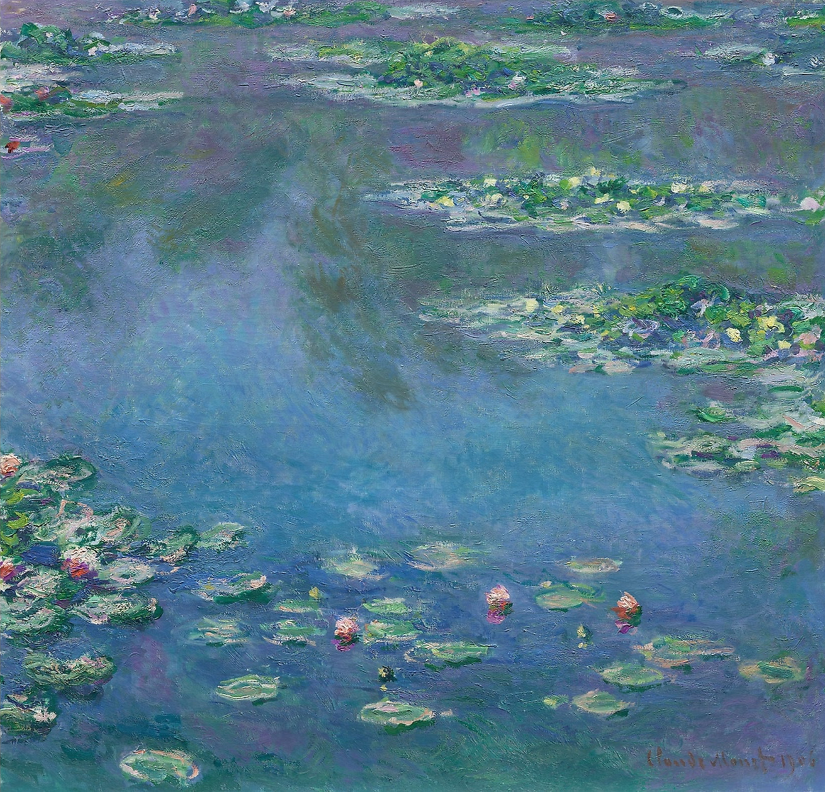 Monet's water lilies at the Art Institute of Chicago