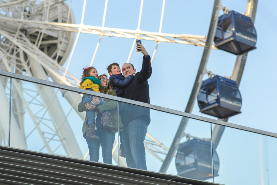 A family at Navy Pier