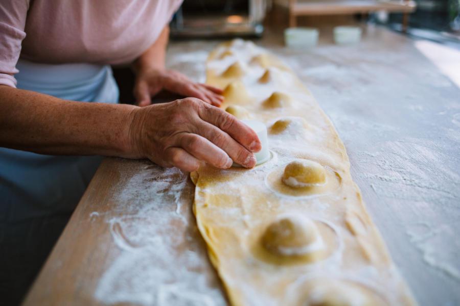 homemade pasta at tortello