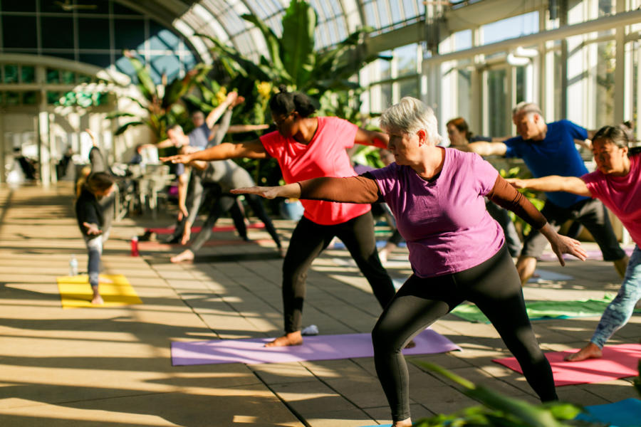 Yoga at Garfield Park Conservatory