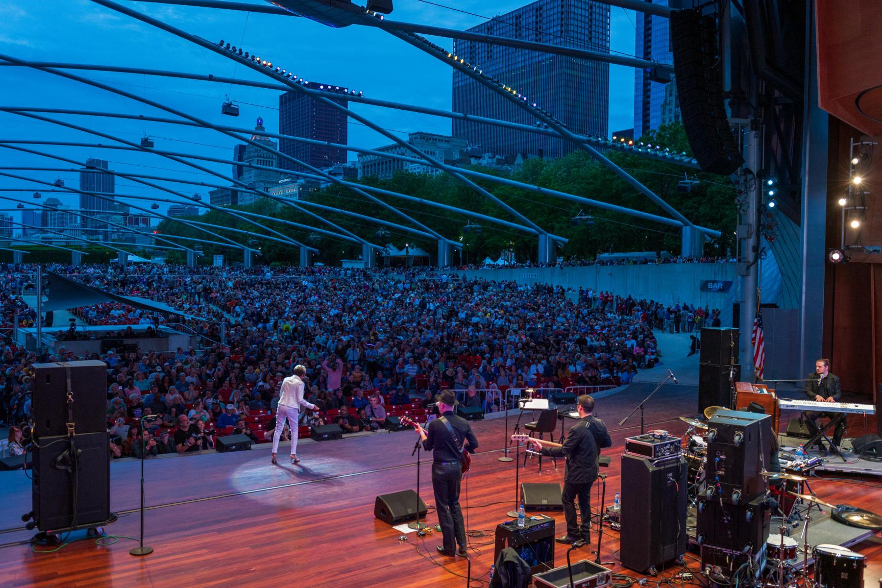 The 2019 Chicago Blues Festival in Millennium Park, June 2019.