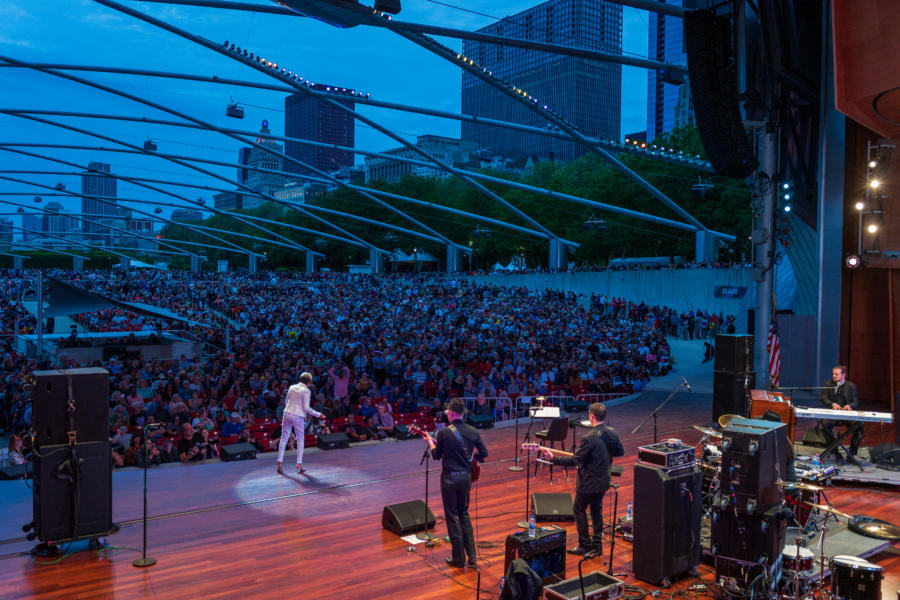 The 2019 Chicago Blues Festival in Millennium Park, June 2019.