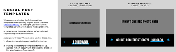 1 Chicago Social Post Templates