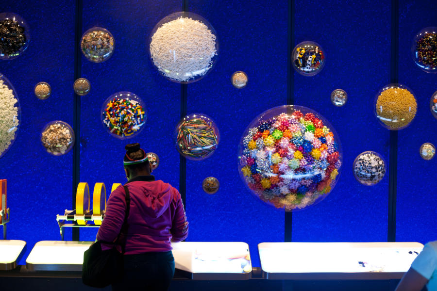 A girl explores an exhibit at the Museum of Science and Industry