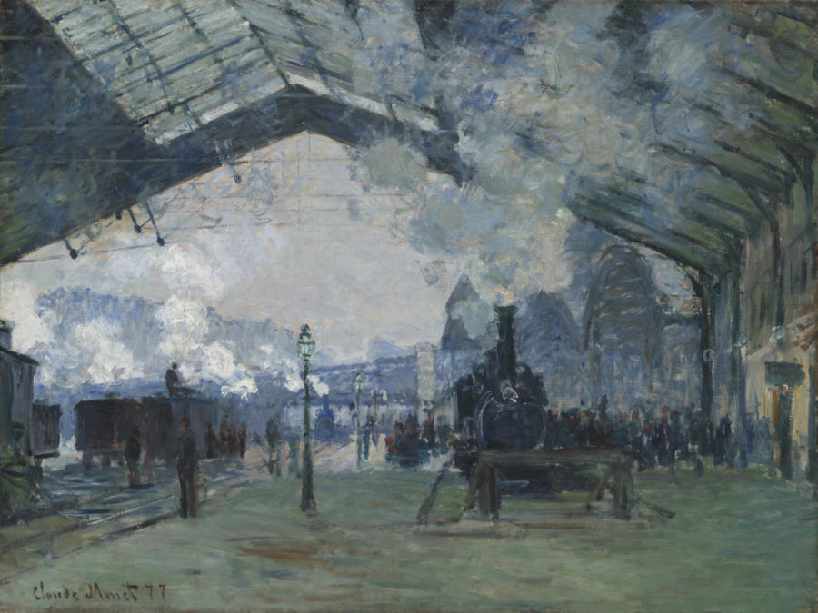 Claude Monet. Arrival of the Normandy Train, Gare Saint-Lazare, 1877. The Art Institute of Chicago, Mr. and Mrs. Martin A. Ryerson Collection.