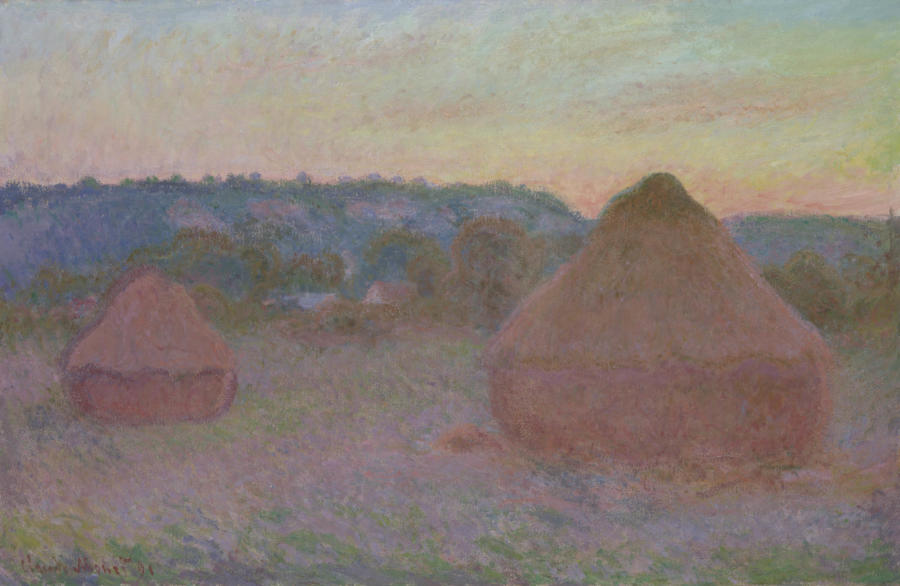 Claude Monet. Stacks of Wheat (End of Day, Autumn), 1890/91. The Art Institute of Chicago, Mr. and Mrs. Lewis Larned Coburn Memorial Collection.