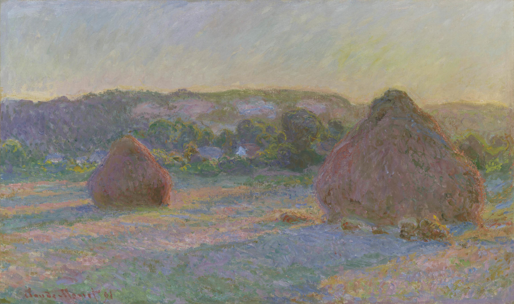 Claude Monet. Stacks of Wheat (End of Summer), 1890:91. The Art Institute of Chicago, Gift of Arthur M. Wood, Sr. in memory of Pauline Palmer Wood.