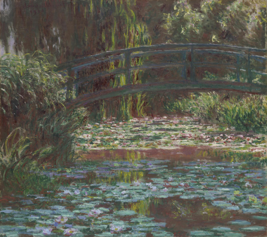 Claude Monet. Water Lily Pond, 1900. The Art Institute of Chicago, Mr. and Mrs. Lewis Larned Coburn Memorial Collection.