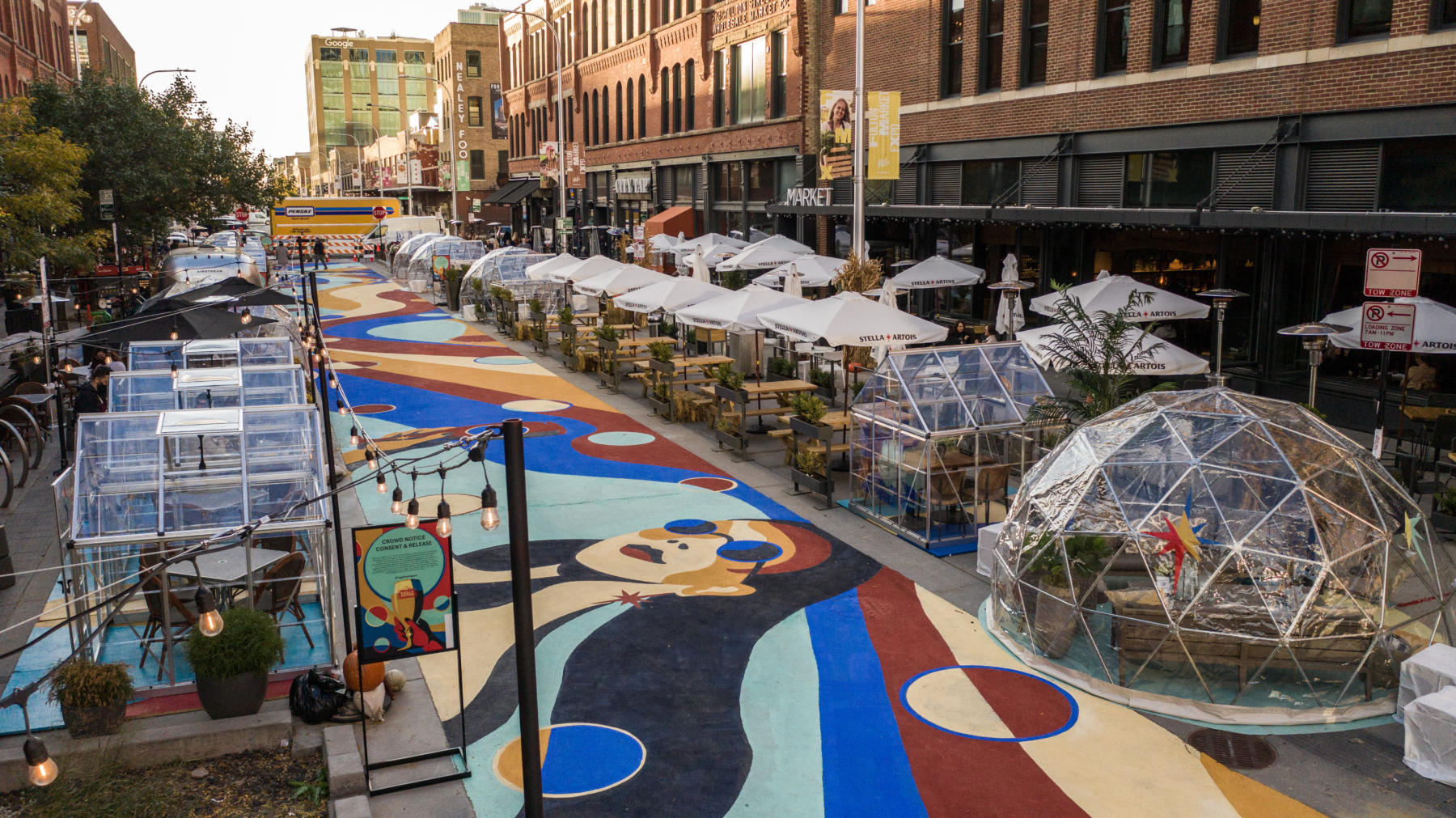 Fulton Market outdoor dining