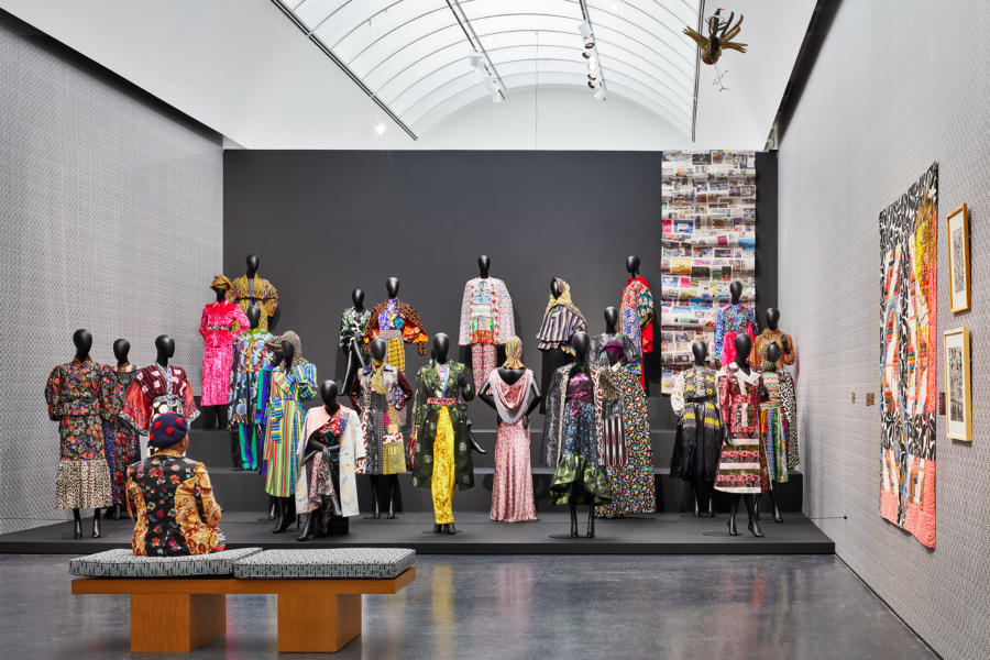 Installation view, Duro Olowu: Seeing Chicago, 2020. Photo: Kendall McCaugherty.