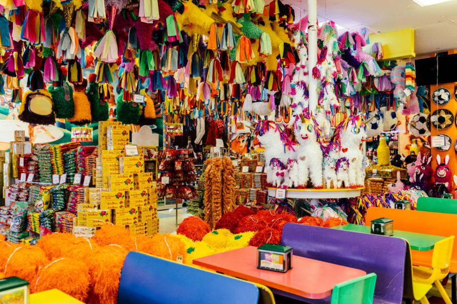 A colorful candy store in Little Village