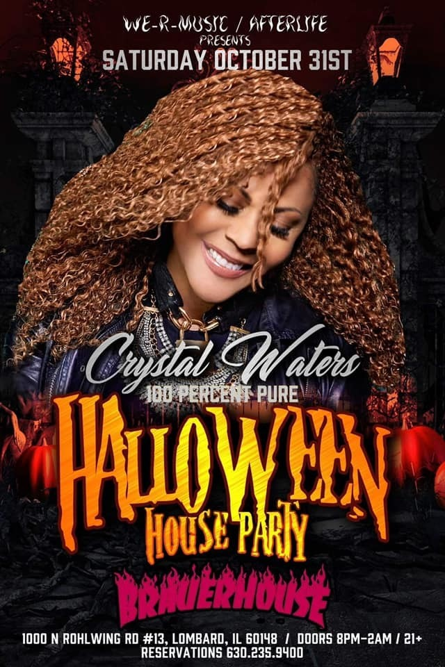 Crystal Waters 100 Percent Pure Love Halloween Party!