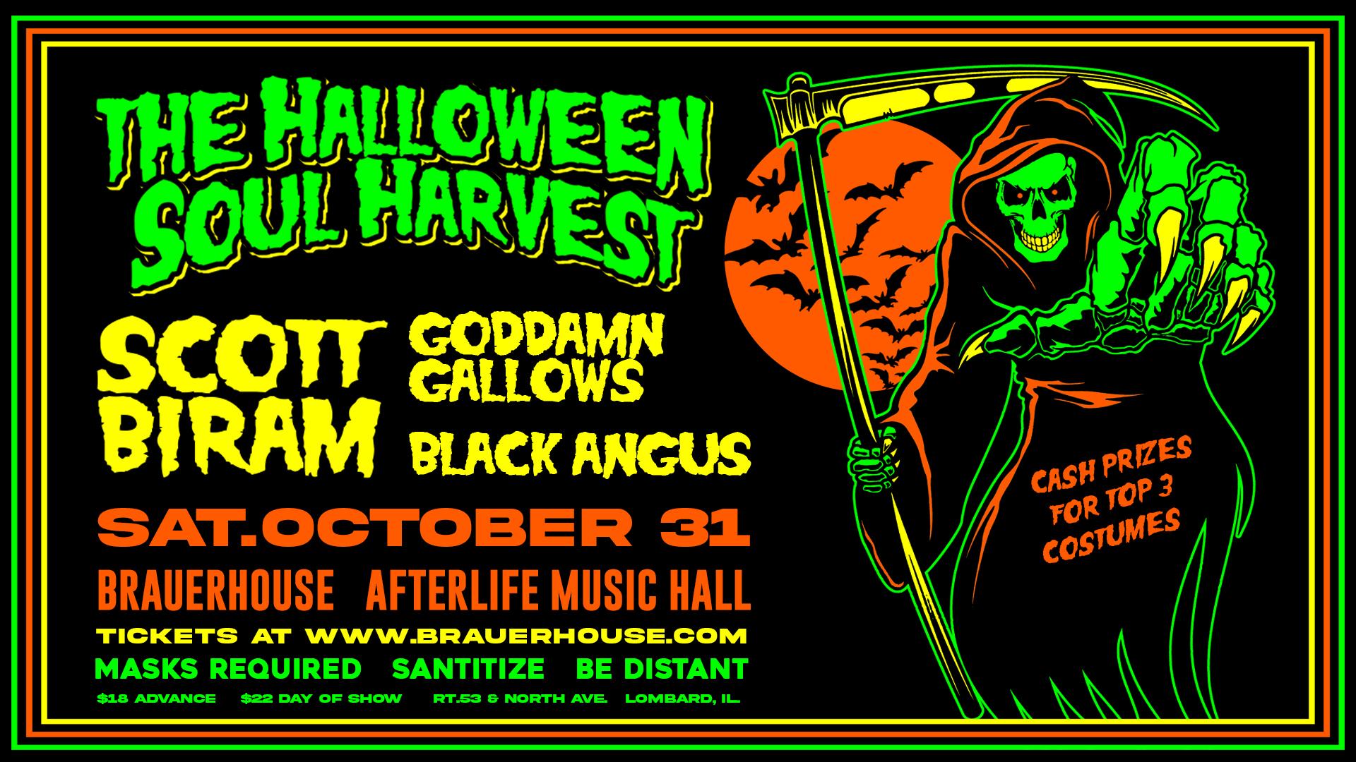 The Halloween Soul Harvest W/ Scoot Biram and Goddamn Gallows
