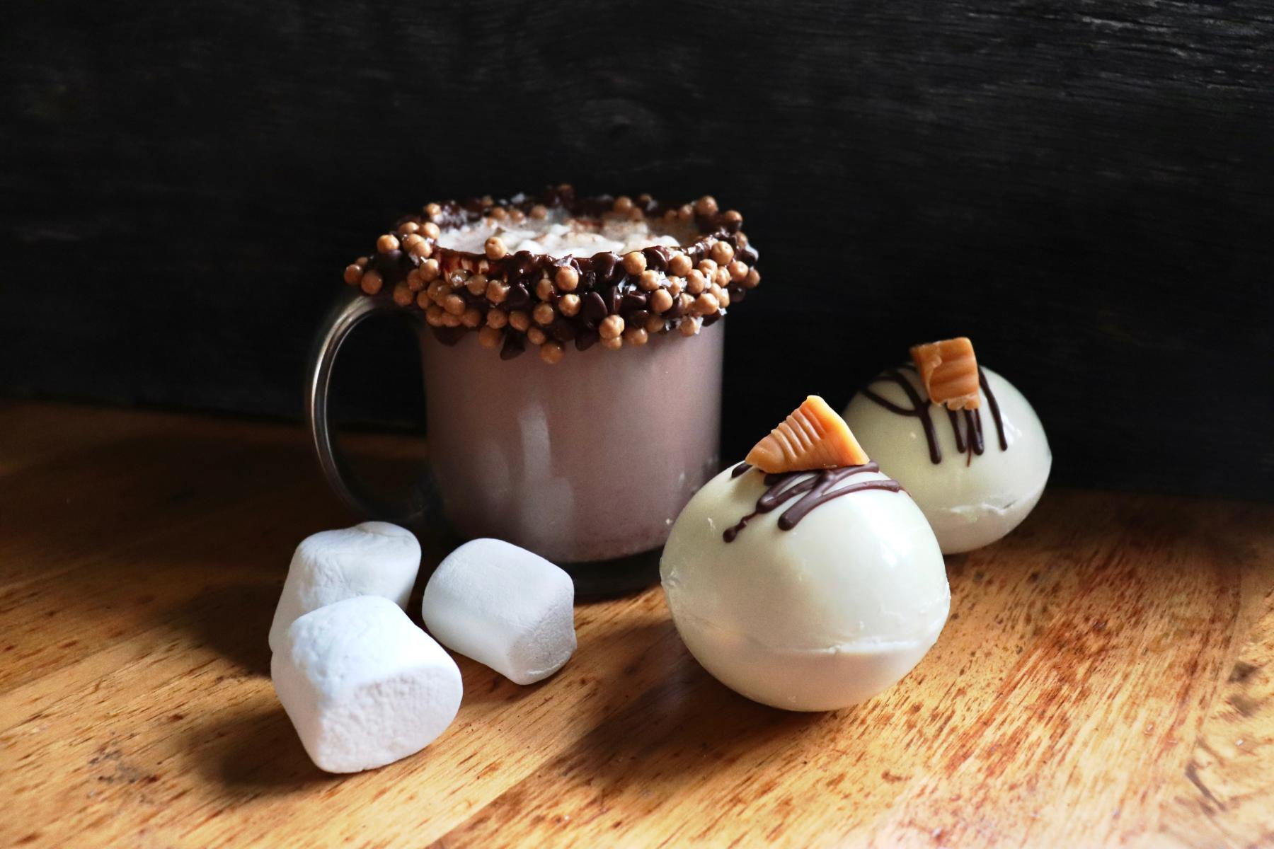 Hot Chocolate bomb from BomboBar