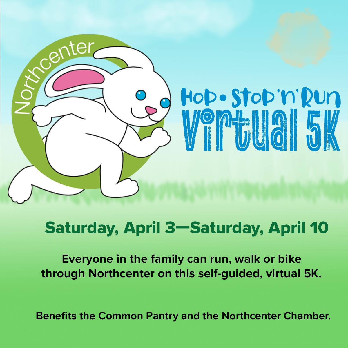 Hop, Stop N' Run: A Virtual 5K Run, Walk or Bike through Northcenter