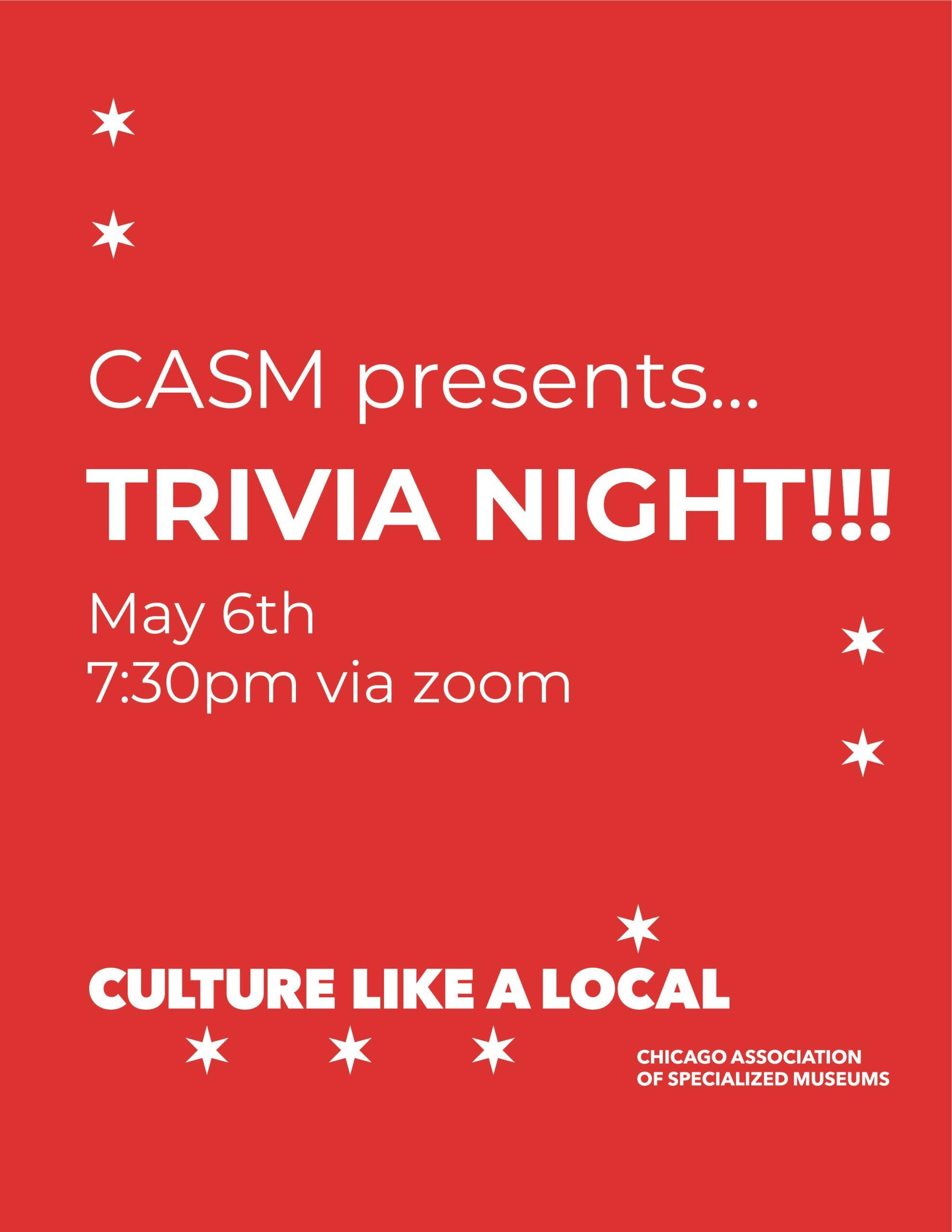 CASM Culture Like A Local Trivia Night