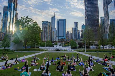 Pier Fitness: Sunset Yoga at Navy Pier