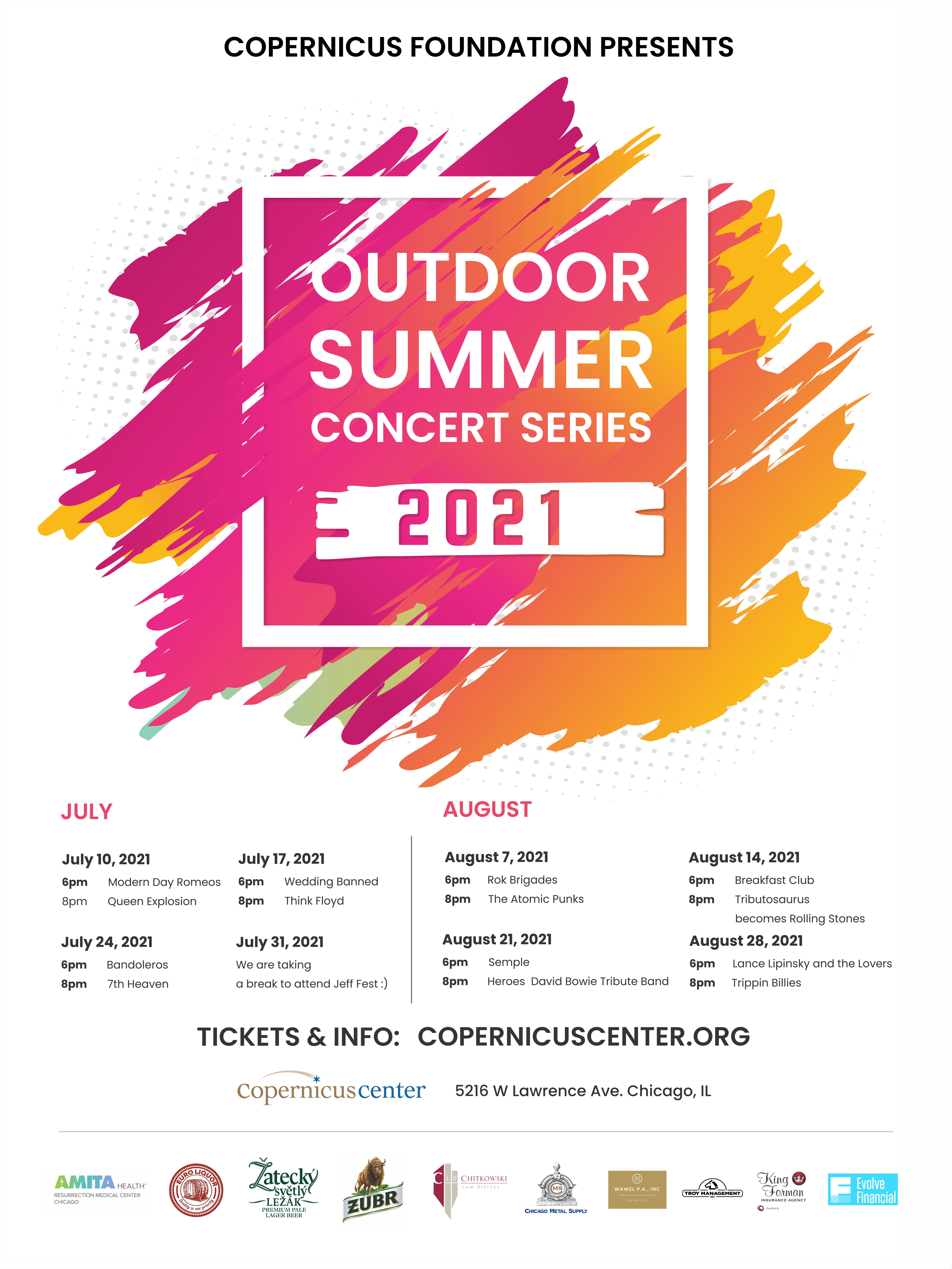 Outdoor Summer Concert Series  Copernicus Center   20/20/20 ...