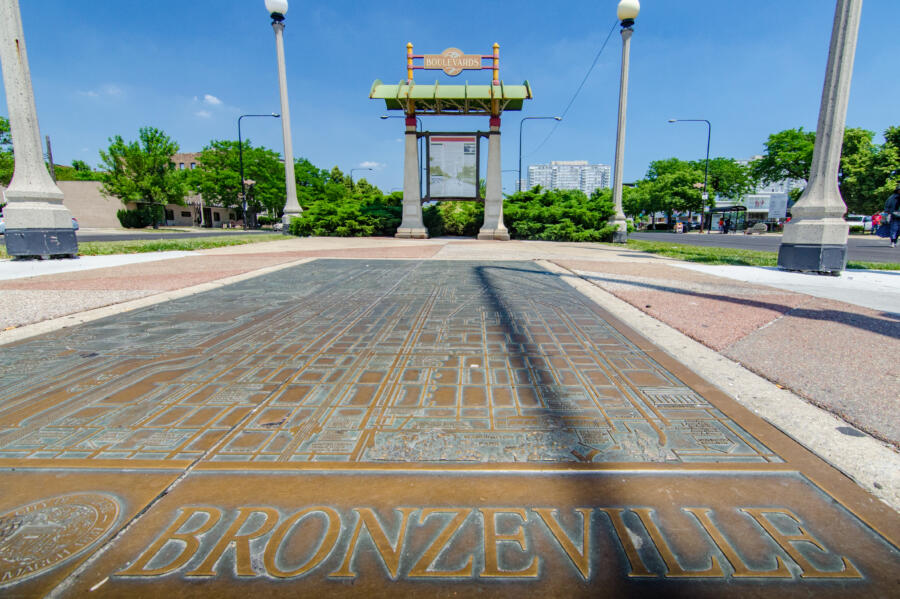 Historic map of Bronzeville