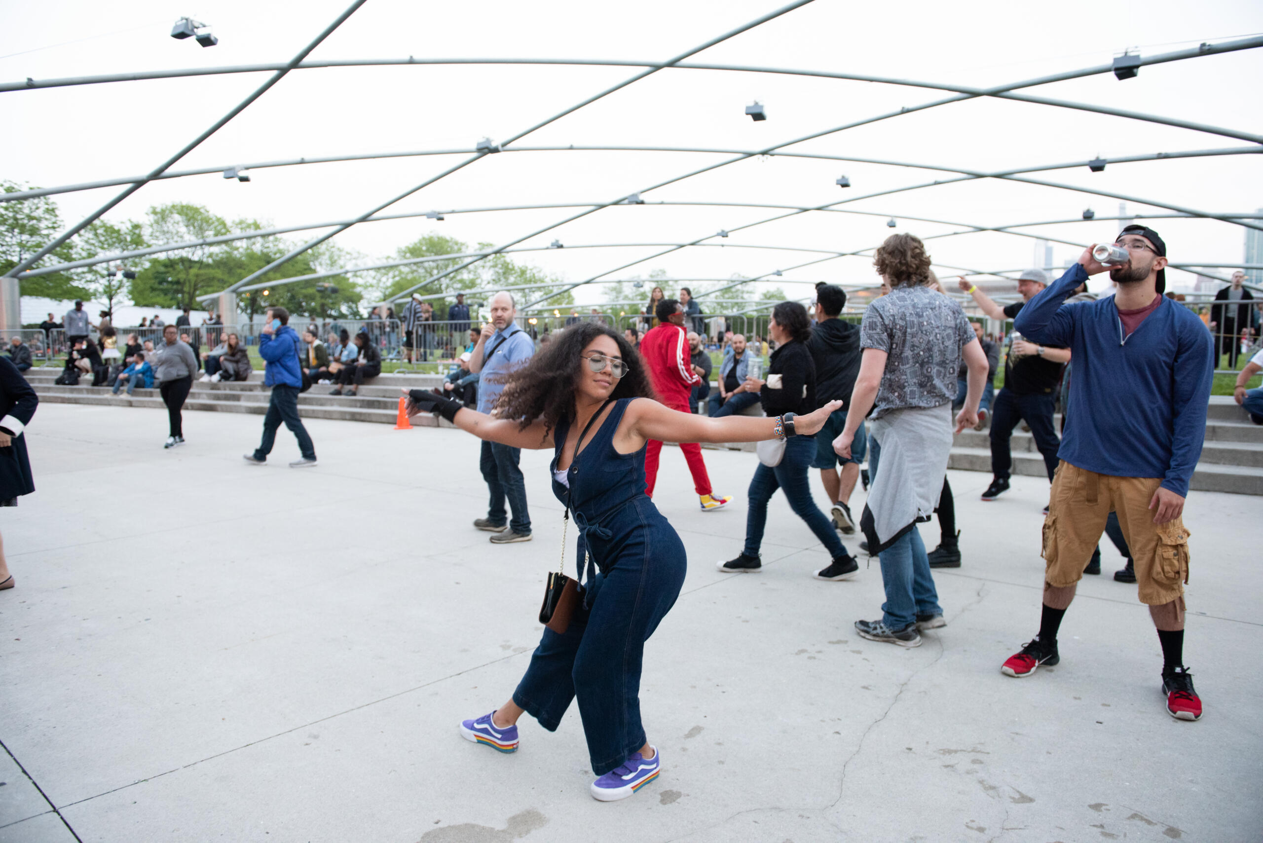 A woman dancing at Chicago's House Music Festival