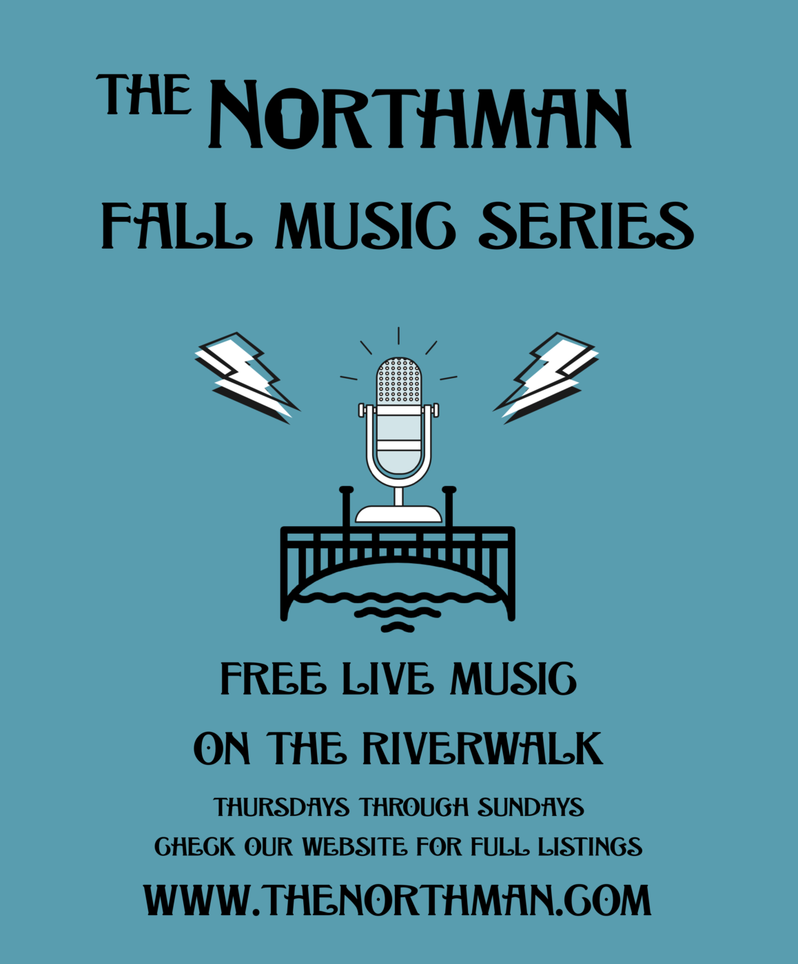 Fall Music Series Poster