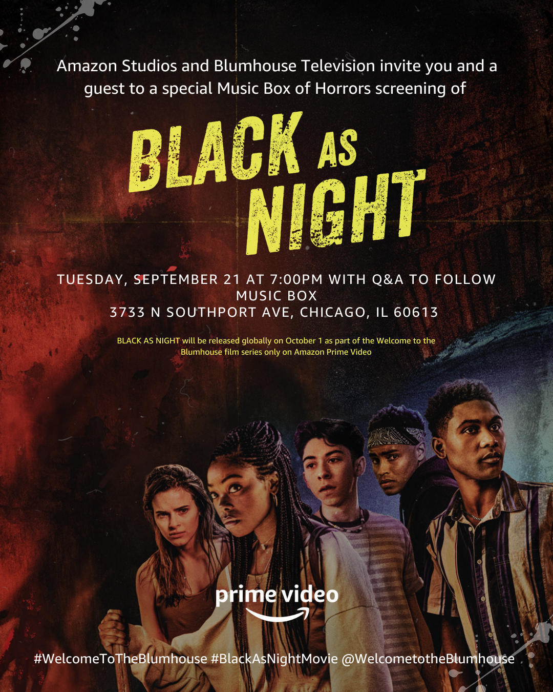 Black As Night Movie Premiere and Q&A | 09/21/2021 | Choose Chicago