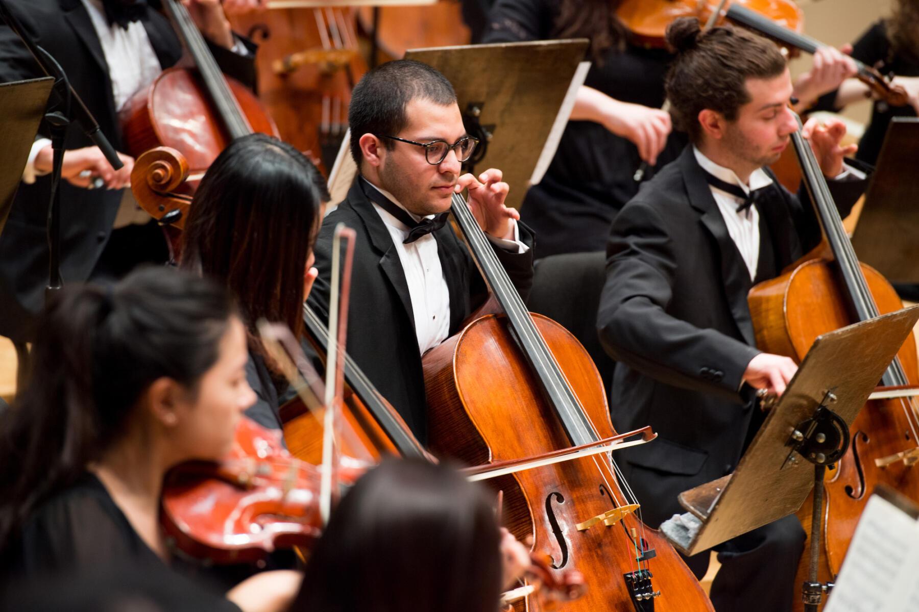 Orchestra – cellos smaller